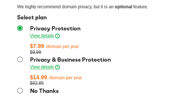 Adding privacy protection