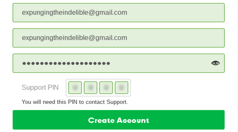 Email and passphrase for your account with your registrar