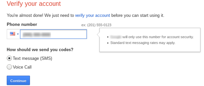 Verify prepaid phone number