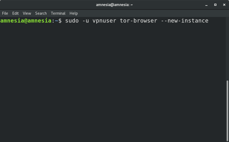 Launch new Tor Browser