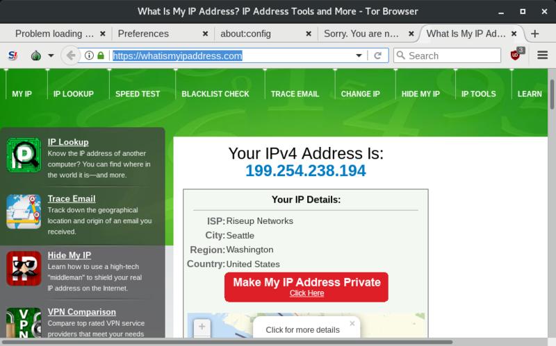 Apparent IP address is a VPN