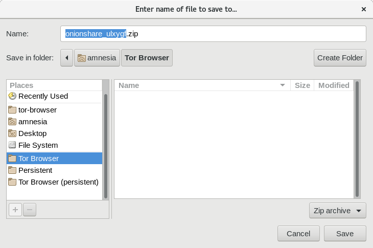 Choosing download folder
