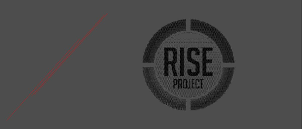 round black and white Rise Project logo