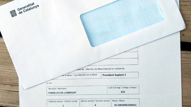 Photograph of envelope and registration form