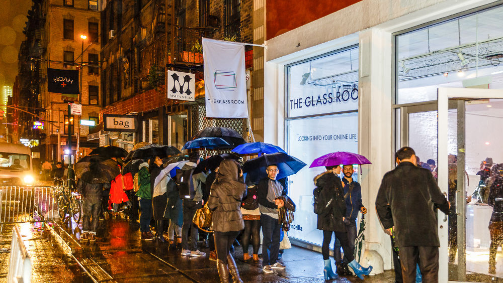 The Glass Room Plus exhibition in New York